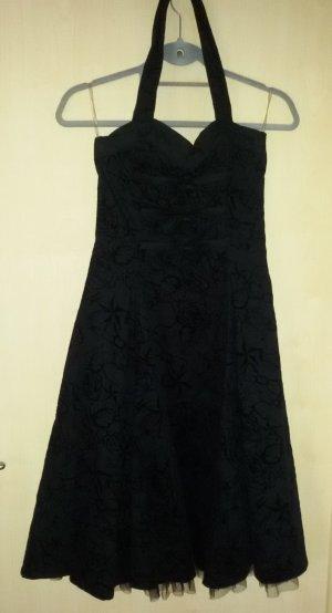 Long Tattoo Dress von H&R London, schwarzes wadenlanges Kleid mit Motivdruck