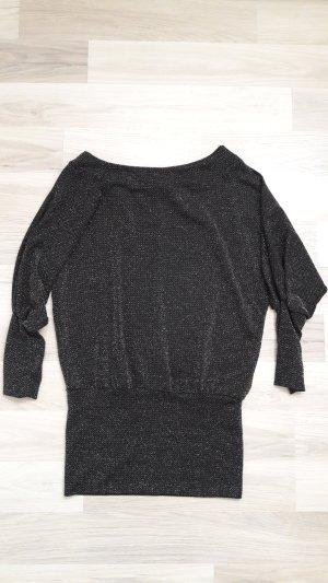 Top long noir-argenté