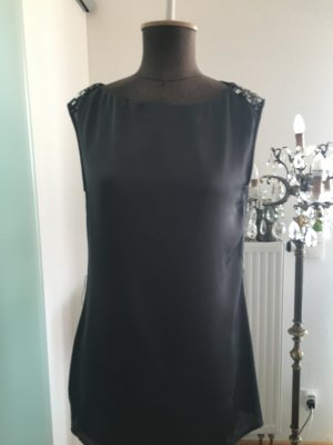 Long Top Bluse Shirt Gr 36 S Von Promod mit Pailletten
