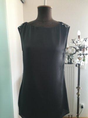 Long Top Bluse Shirt Gr 36 S Von Promod mit Pailletten