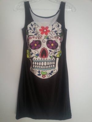 """Long Top Kleid mit Mexikanischem Totenkopf """"Los Muertos"""""""