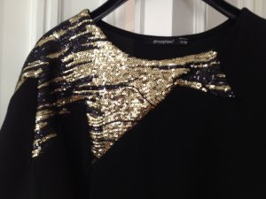 Long top oder kurzes Kleid Schwarz mit Gold Pailletten #Atmosphere