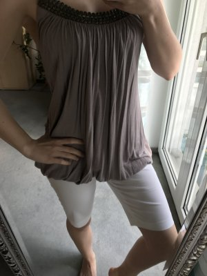 Zara Haut long gris brun