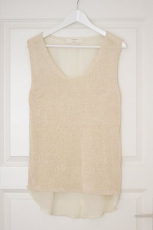 LONG TOP ZARA BEIGE NUDE