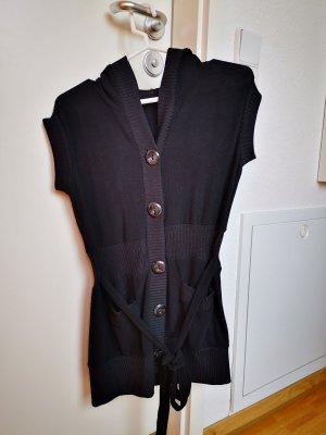 Short Sleeve Knitted Jacket black wool