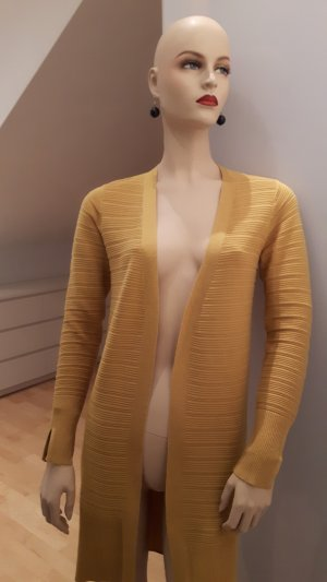 Soyaconcept Long Knitted Vest dark yellow mixture fibre