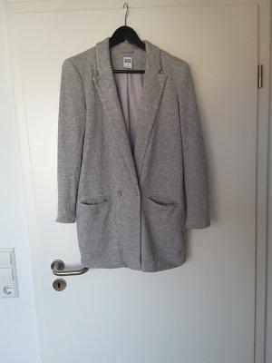 Vero Moda Lange blazer lichtgrijs-zilver