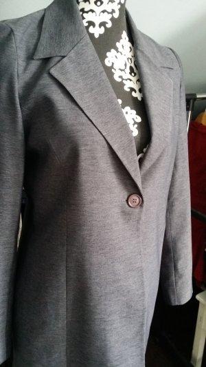 Lange blazer grijs-donkergrijs
