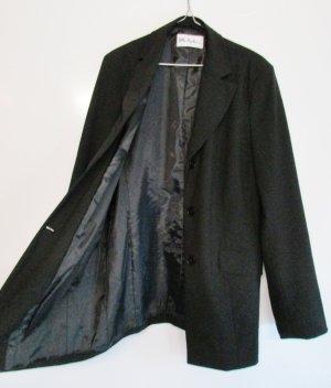 Ulla Popken Blazer long noir tissu mixte