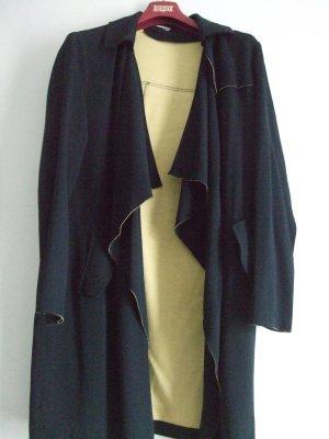 Miss Miss by Valentina Blazer long jaune-bleu foncé polyester