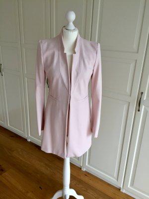 Zara Blazer lungo rosa pallido-rosa antico