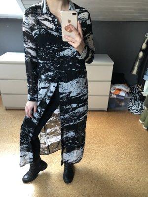 H&M Divided Camicetta lunga nero-bianco