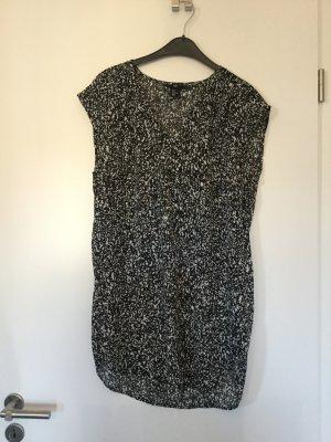 Longbluse H&M 36 schwarz-weiß