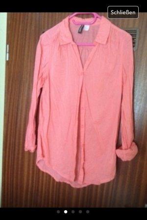 Longbluse/Hemd aus leichtem Stoff