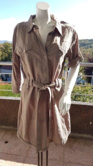 Longbluse/ Hemdkleid khakifarben