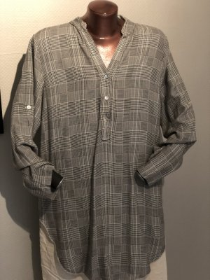 Blusa larga gris tejido mezclado