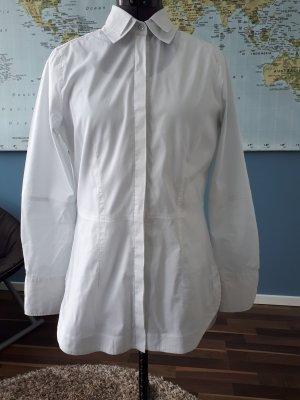 Longbluse in weiß