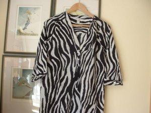 Longbluse , Kleid,Strandkleid ,Tunika  S schwarz,weiß