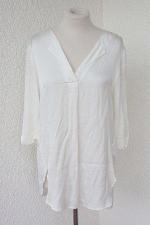 Longbluse - lang geschnittene Bluse Tunika Blusenkleid Kleid Leinen viskose