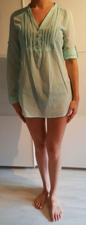 Longbluse Mintgrün von Zara