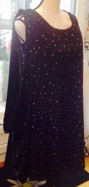 Longbluse schwarz mit Sternen