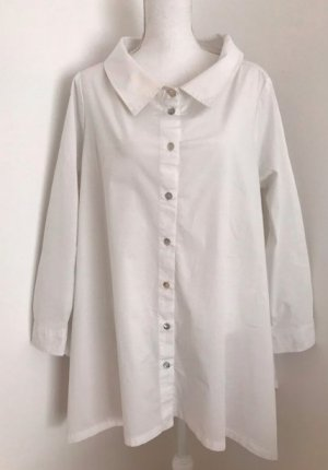 Zara Lange blouse wit Katoen