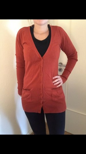 Knitted Cardigan salmon-dark orange