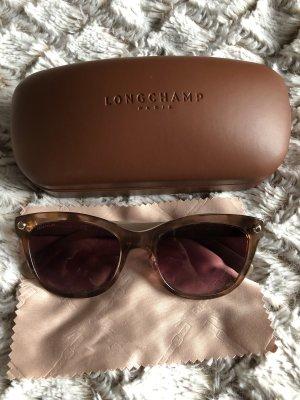 Longchamp Hoekige zonnebril zwart bruin-nude