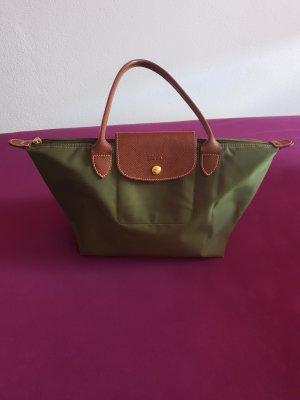 Longchamp Frame Bag cognac-coloured-khaki