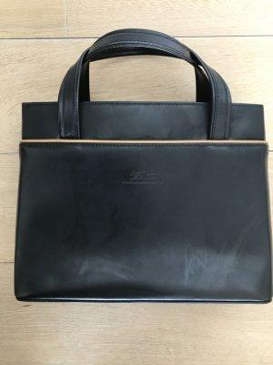 Longchamp Sac Baril cognac-noir