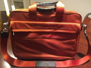 Longchamp Aktentasche / Laptoptasche orange