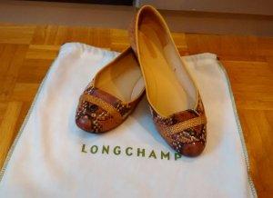 Longchamp Ballerinas Gr. 38 Braun Beige flach schuhe damen luxus designer