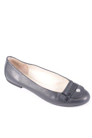 "Longchamp Ballerinas ""Le Pliage Cuir"" schwarz"