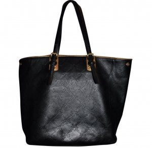 Longchamp Black LM Cuir Medium Tote Shopping Bag