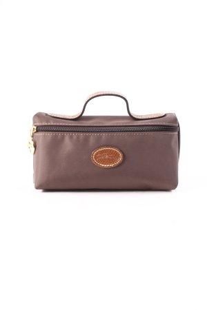 Longchamp Clutch graubraun-braun schlichter Stil