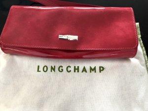 Longchamp Clutch magenta leather