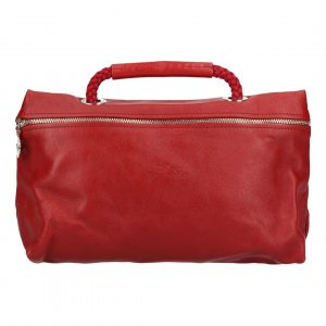 Longchamp Borsa clutch rosso scuro-argento Pelle