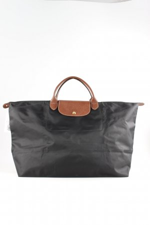 Longchamp Handtasche schwarz-braun Casual-Look