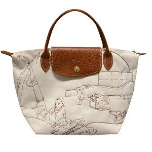 Longchamp Handtasche aus Stoff und Leder