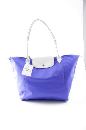 Longchamp Handtasche blau-weiß Casual-Look