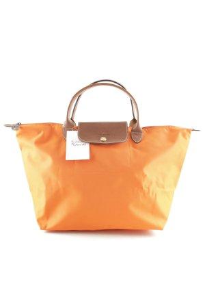 Longchamp Handtasche braun-neonorange Casual-Look