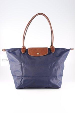 Longchamp Handtasche dunkelblau-braun Casual-Look