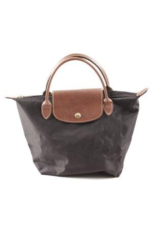 Longchamp Handtasche dunkelblau-hellbraun klassischer Stil
