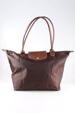 Longchamp Handtasche dunkelbraun-braun Casual-Look
