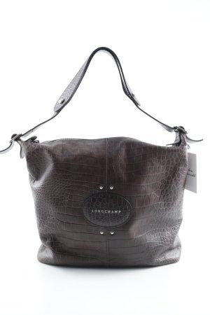 Longchamp Bolso marrón oscuro estilo clásico