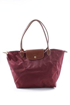 Longchamp Handtasche dunkelrot-braun Casual-Look