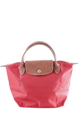 Longchamp Handtasche dunkelrot-cognac Casual-Look