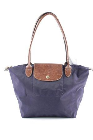 Longchamp Handtasche dunkelviolett-braun College-Look