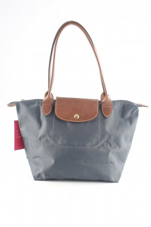 Longchamp Handtasche hellgrau-braun Business-Look