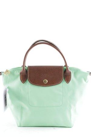 Longchamp Handtasche hellbraun-neongrün Casual-Look